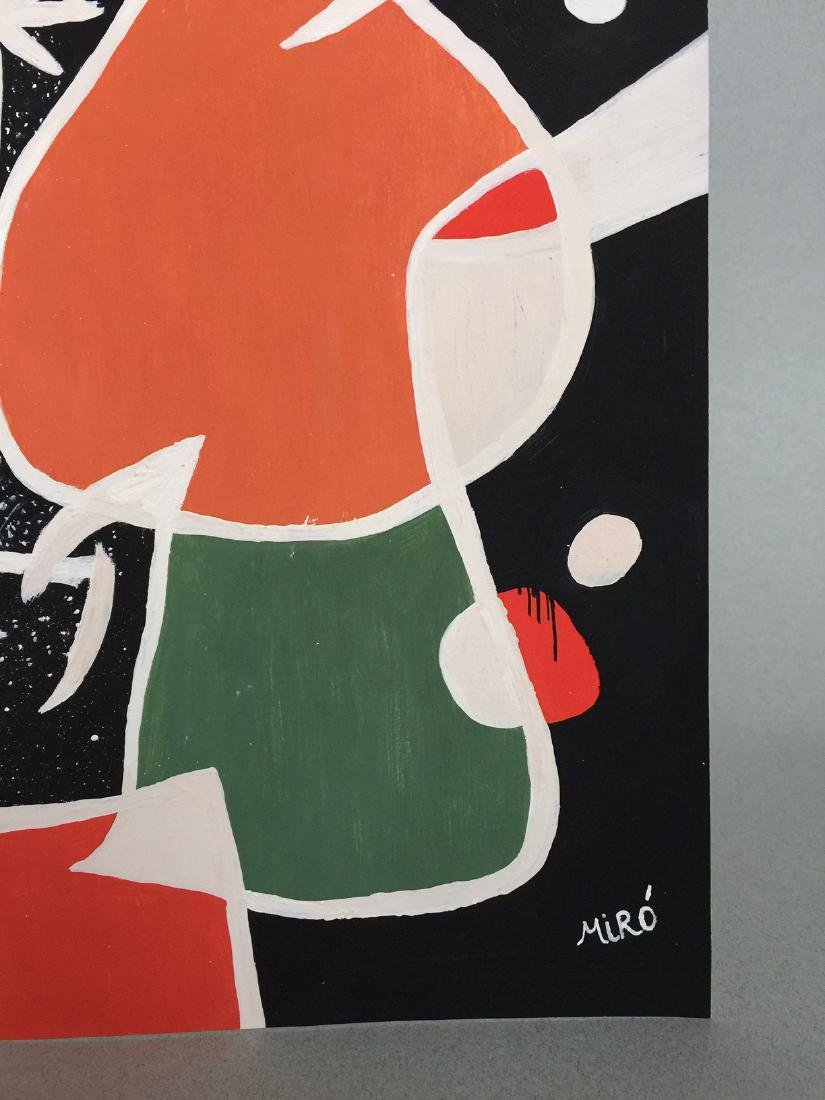 Joan Miro tempera on paper - 3