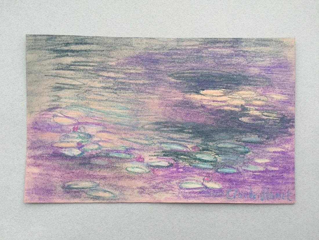 Claude Monet pastel on paper style - 2