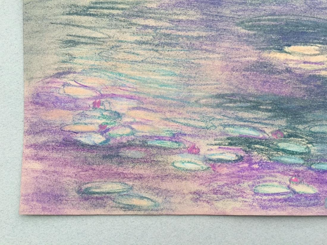 Claude Monet pastel on paper style - 4