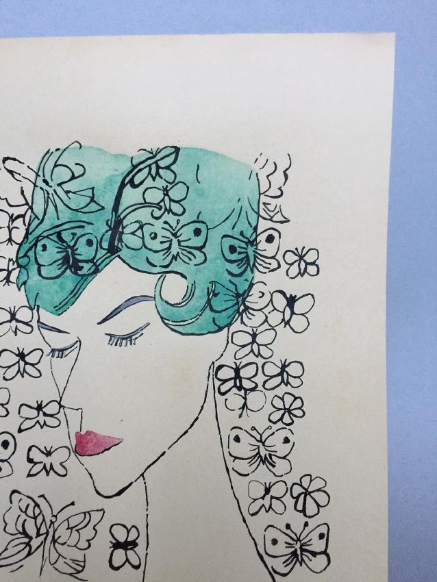 Ink, watercolor on paper signed Andy Warhol - 3