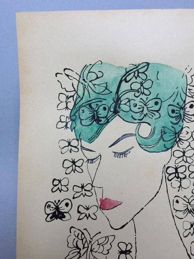 Ink, watercolor on paper signed Andy Warhol - 5