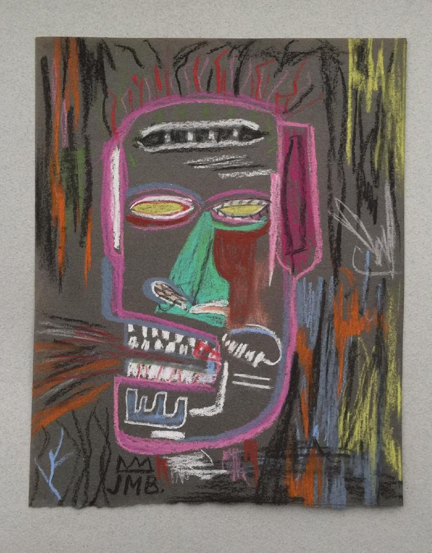Mixed media on paper Jean-Michel Basquiat style - 2