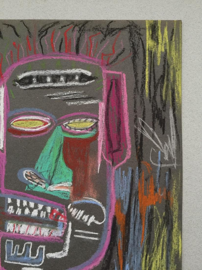 Mixed media on paper Jean-Michel Basquiat style - 3