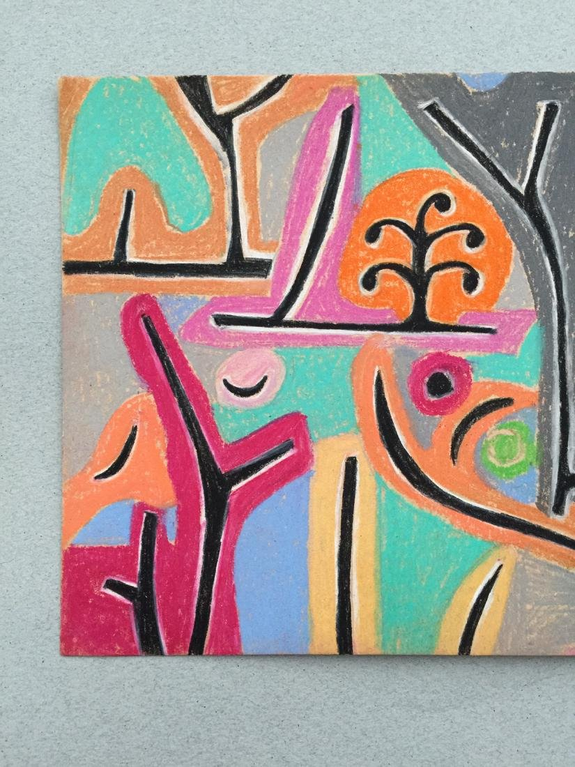 Mixed media on paper Klee style drawing - 4