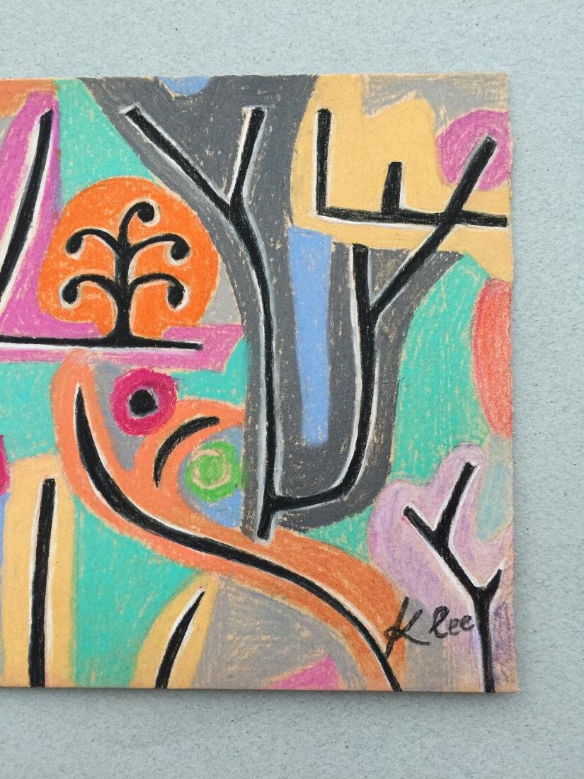 Mixed media on paper Klee style drawing - 5