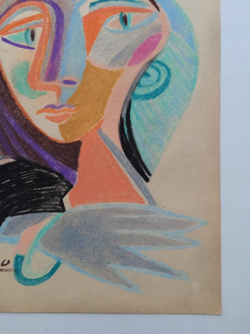 Mixed media on paper Pablo Picasso style - 4