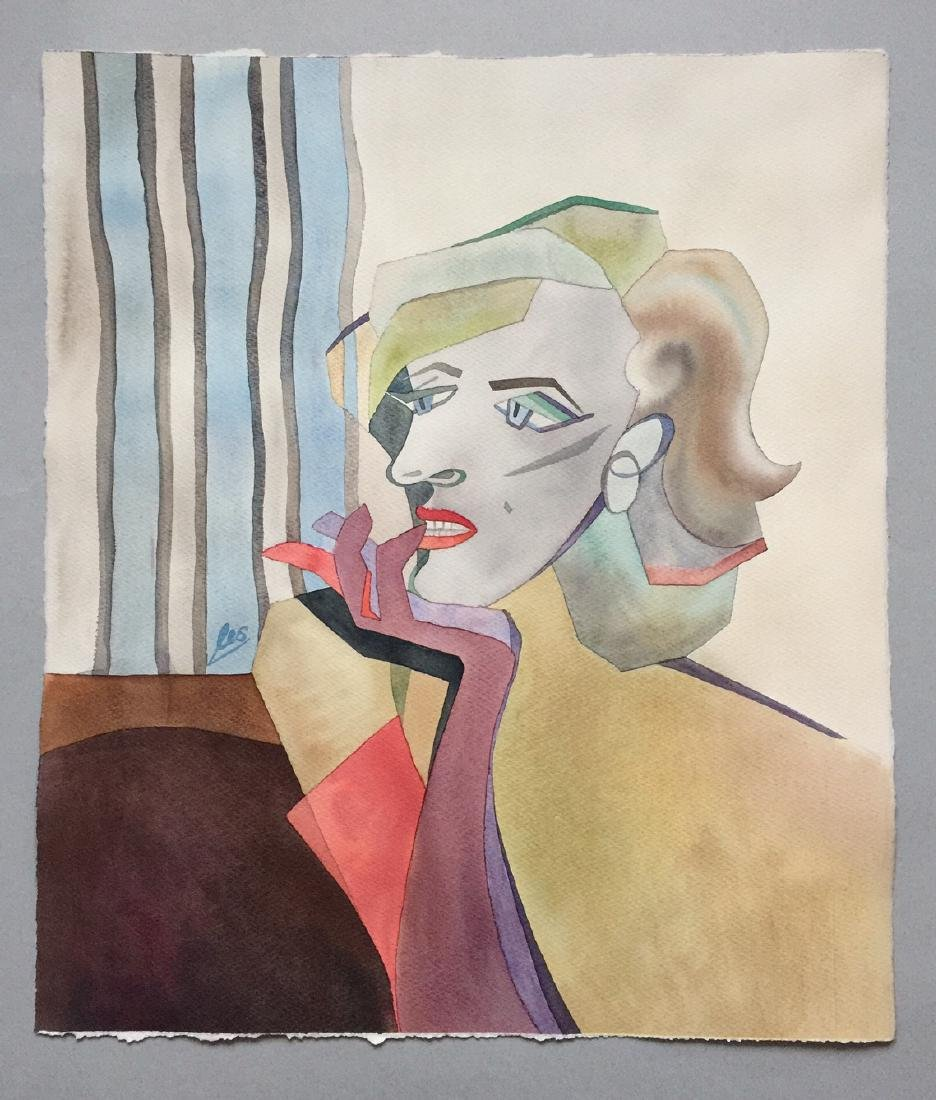 Original watercolor by artist, Marilyn Monroe, cubism - 5