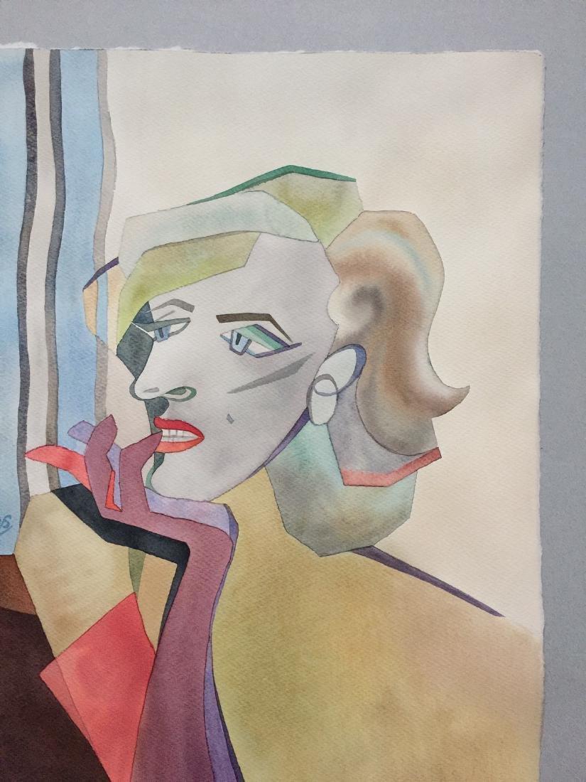 Original watercolor by artist, Marilyn Monroe, cubism - 6