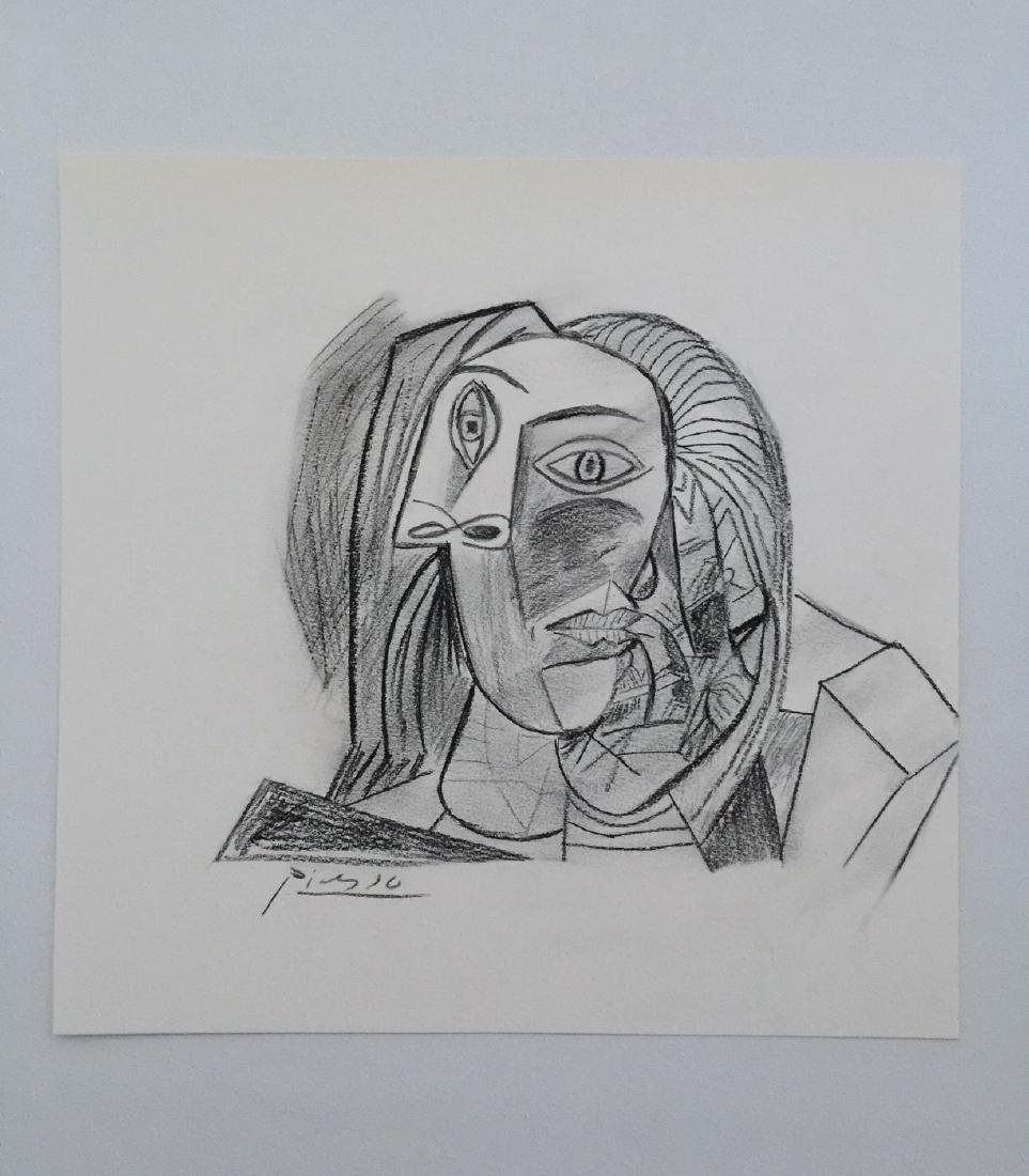 Charcoal on paper Pablo Picasso style - 2