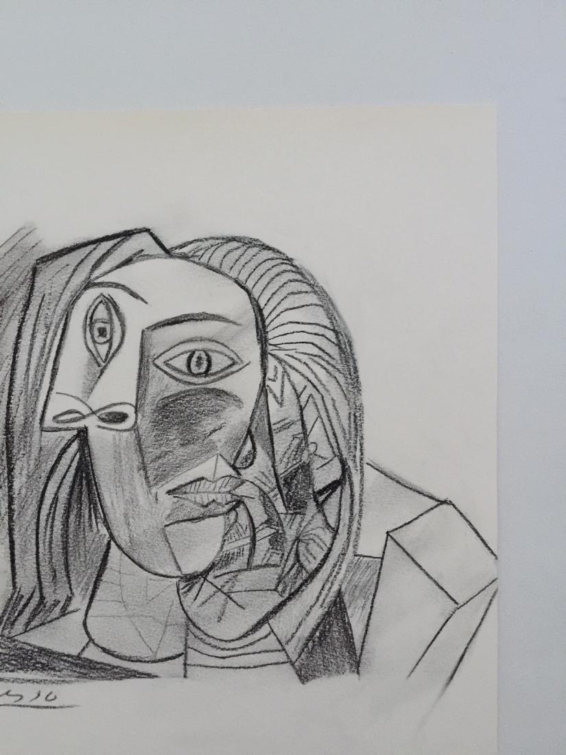 Charcoal on paper Pablo Picasso style - 3