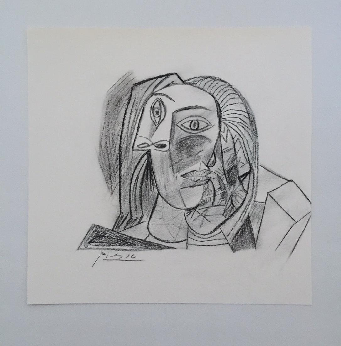 Charcoal on paper Pablo Picasso style - 5