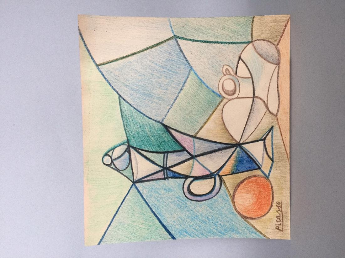 Crayon on paper still life Pablo Picasso - 2