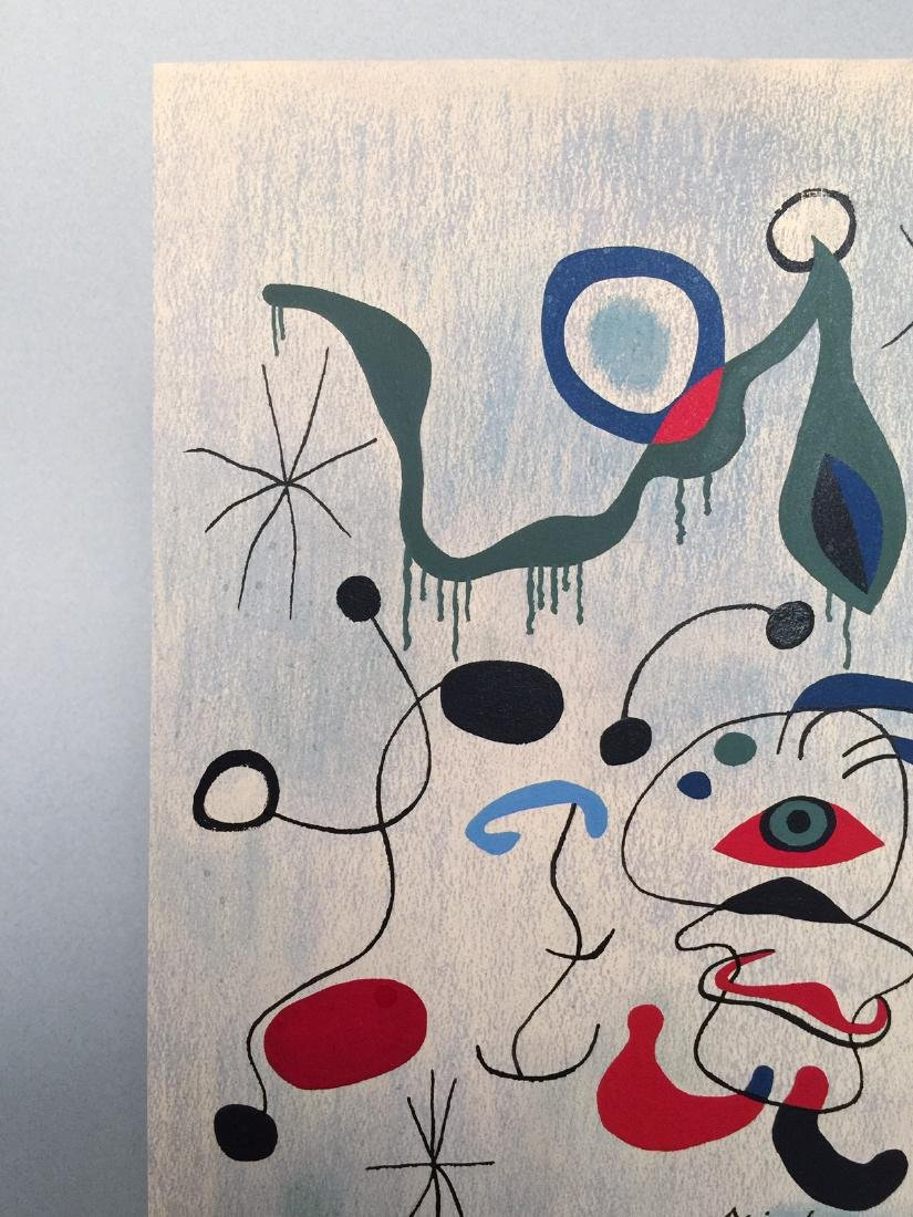 Joan Miro pastel, tempera on paper - 3