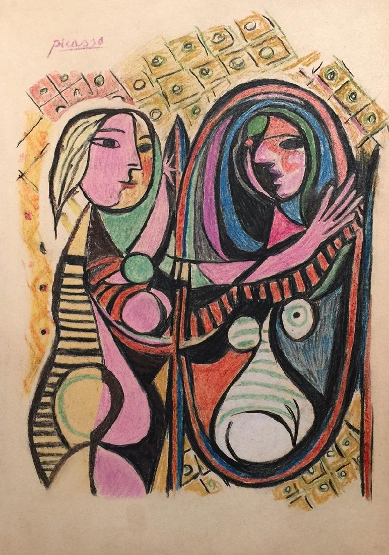 Pablo Picasso mixed media on paper
