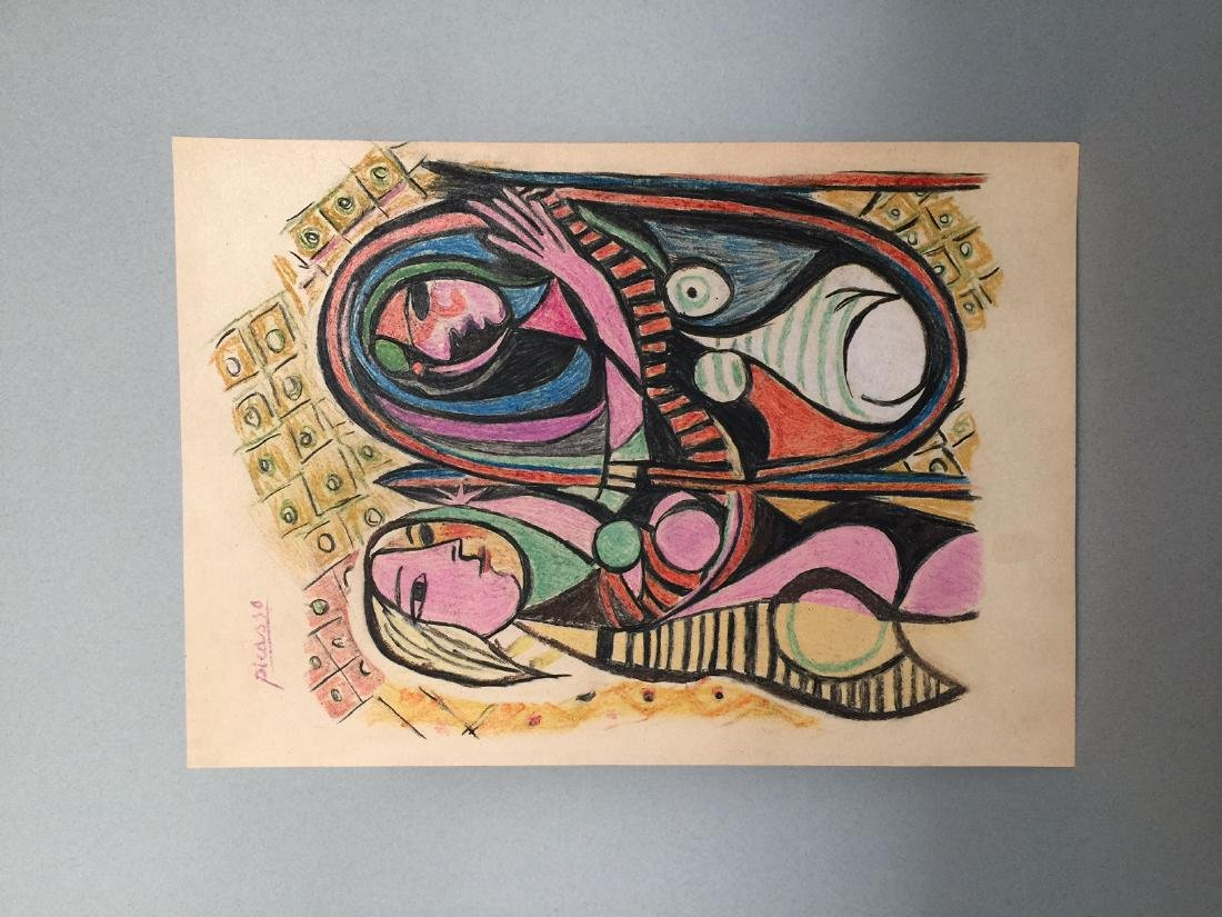 Pablo Picasso mixed media on paper - 2