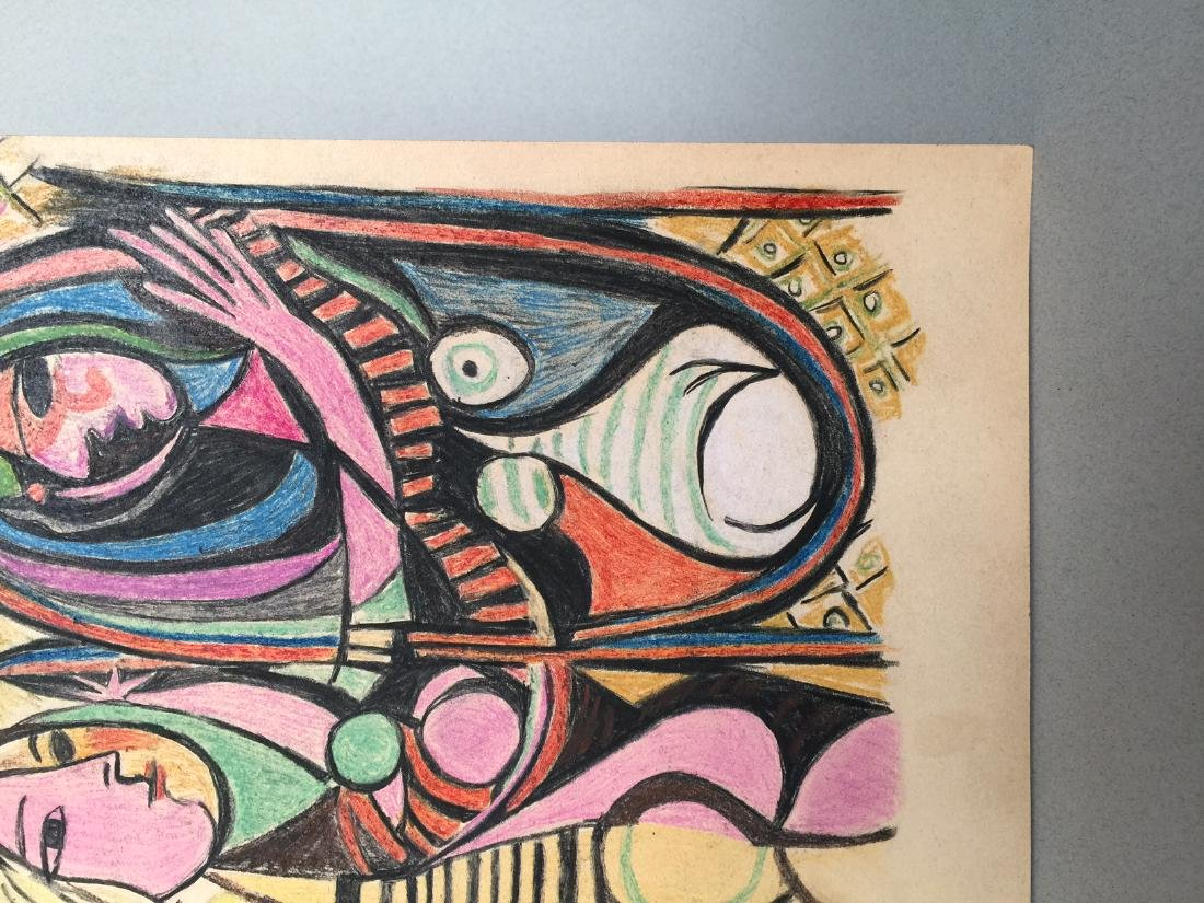 Pablo Picasso mixed media on paper - 3