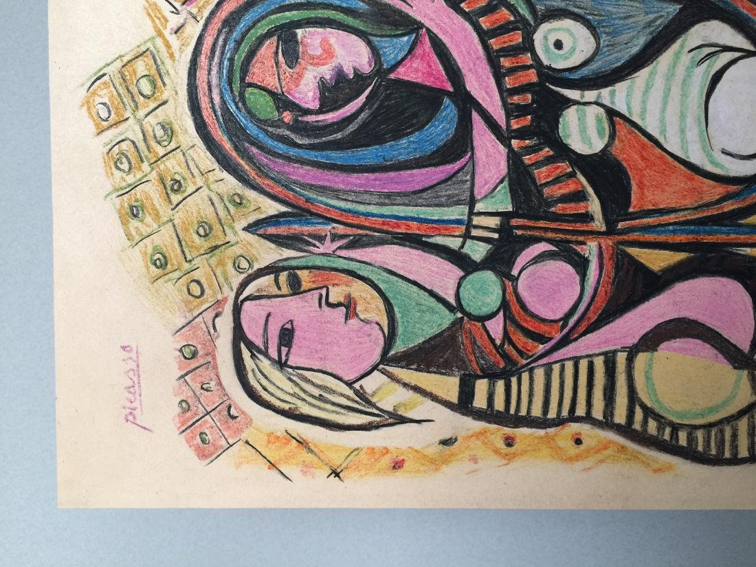 Pablo Picasso mixed media on paper - 4