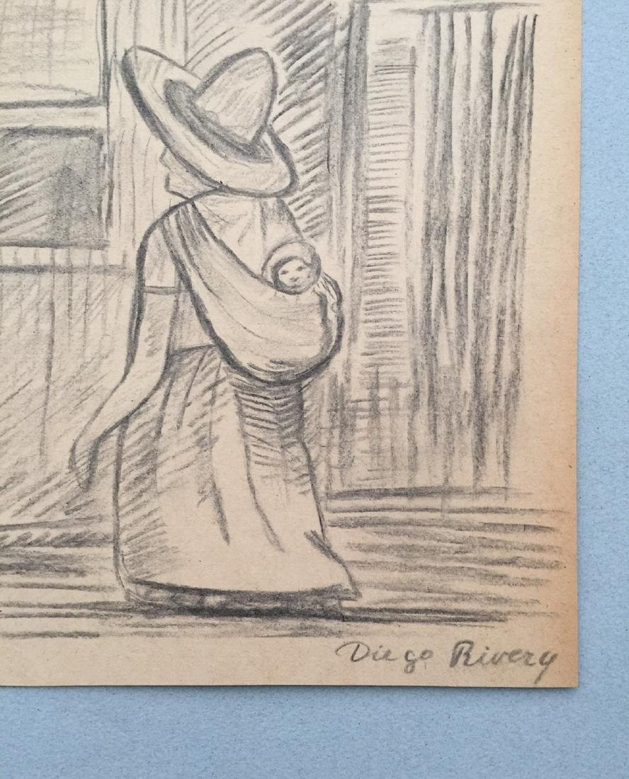 Crayon on paper Diego Rivera style drawing - 4