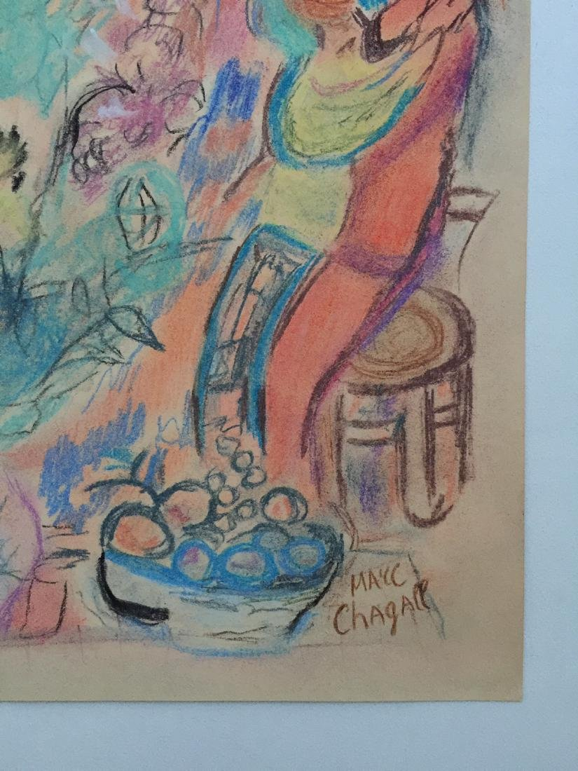 Marc Chagall mixed media on paper style - 4