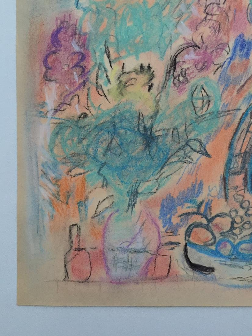 Marc Chagall mixed media on paper style - 5