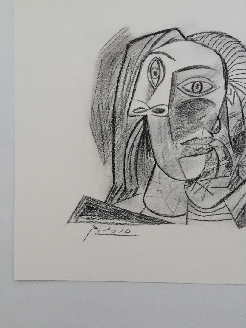 Charcoal on paper Pablo Picasso style - 4