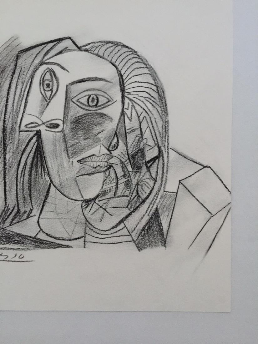 Charcoal on paper Pablo Picasso style - 6