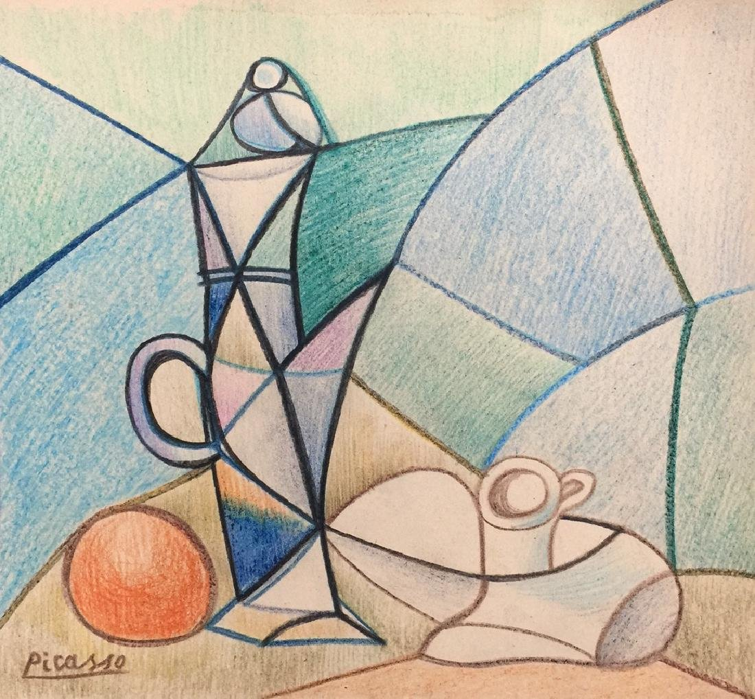 Crayon on paper still life Pablo Picasso