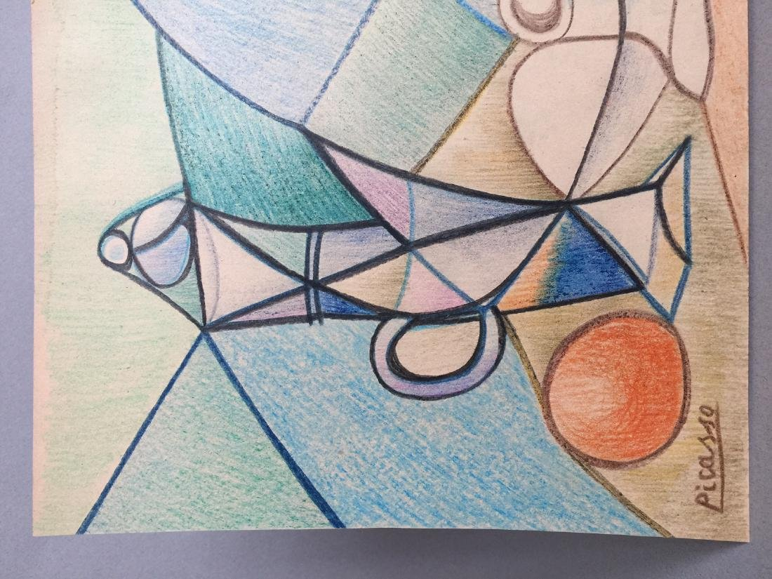 Crayon on paper still life Pablo Picasso - 4