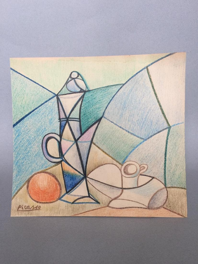 Crayon on paper still life Pablo Picasso - 5