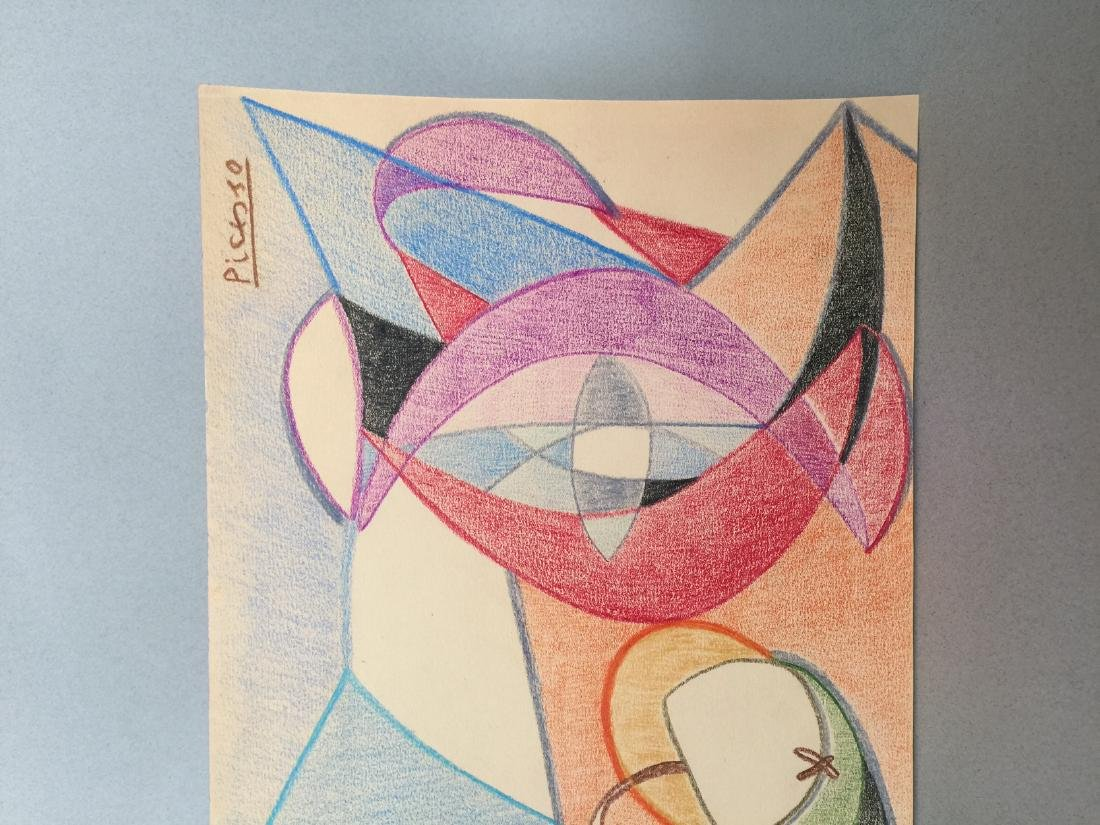 Pablo Picasso crayon on paper still life - 4