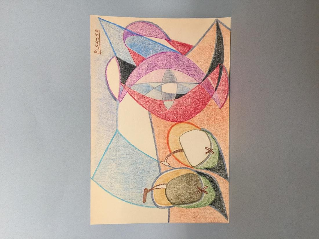 Pablo Picasso crayon on paper still life - 5