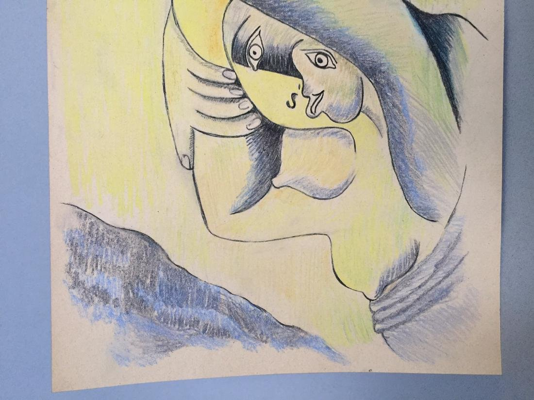 Pablo Picasso pastel, charcoal on paper style - 4