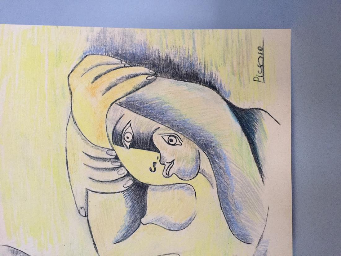 Pablo Picasso pastel, charcoal on paper style - 5