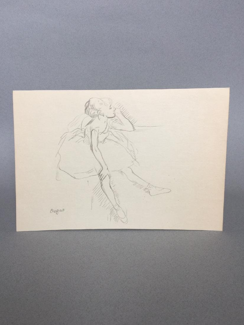Crayon on paper signed Degas style - 4