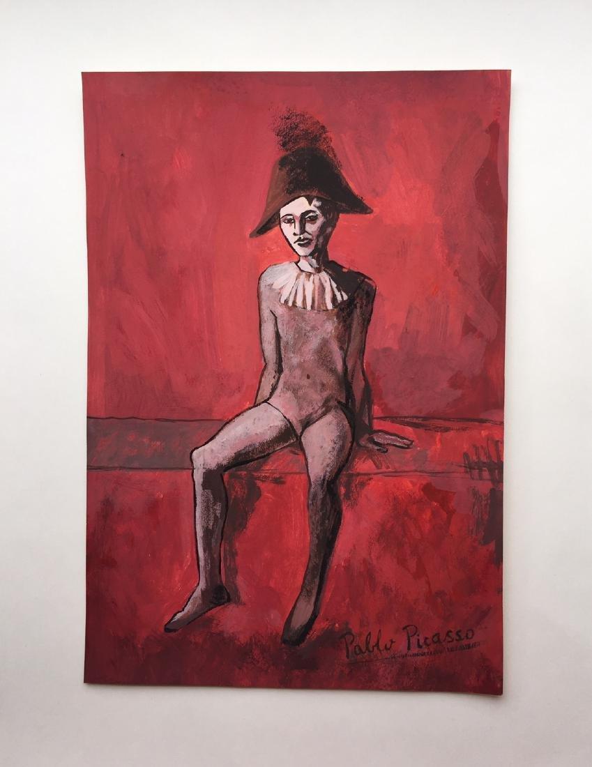 Pablo Picasso tempera on paper style - 3