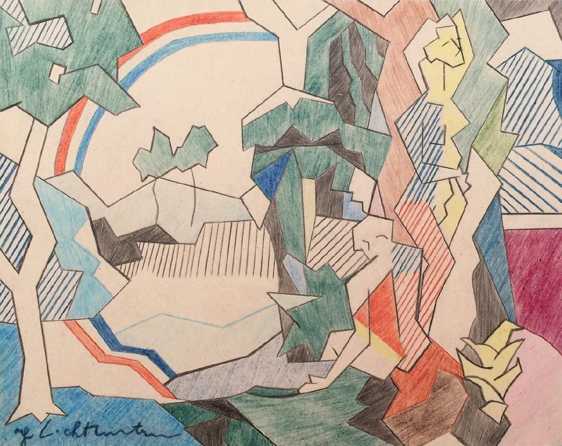 Crayon on paper Roy Lichtenstein style