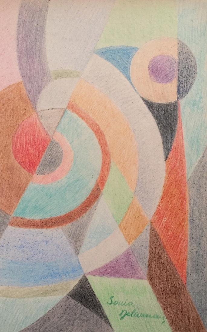 Sonia Delaunay crayon on paper style