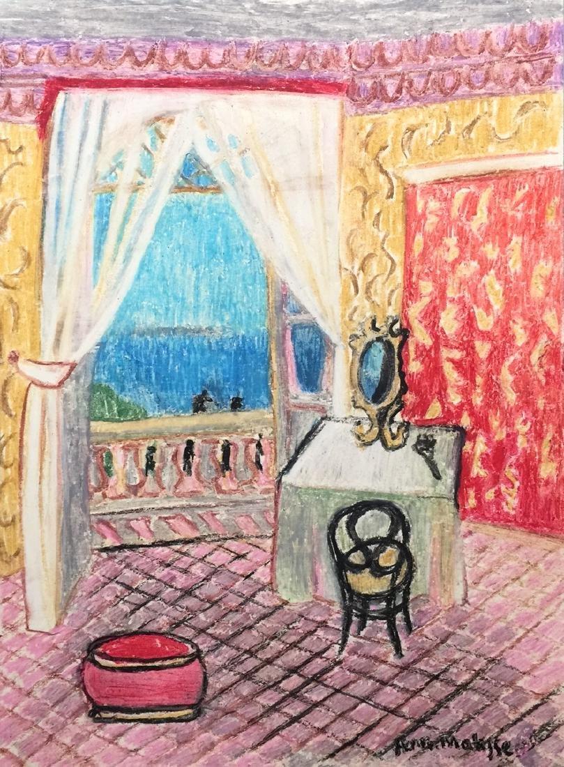 Henri Matisse wax crayon on paper style