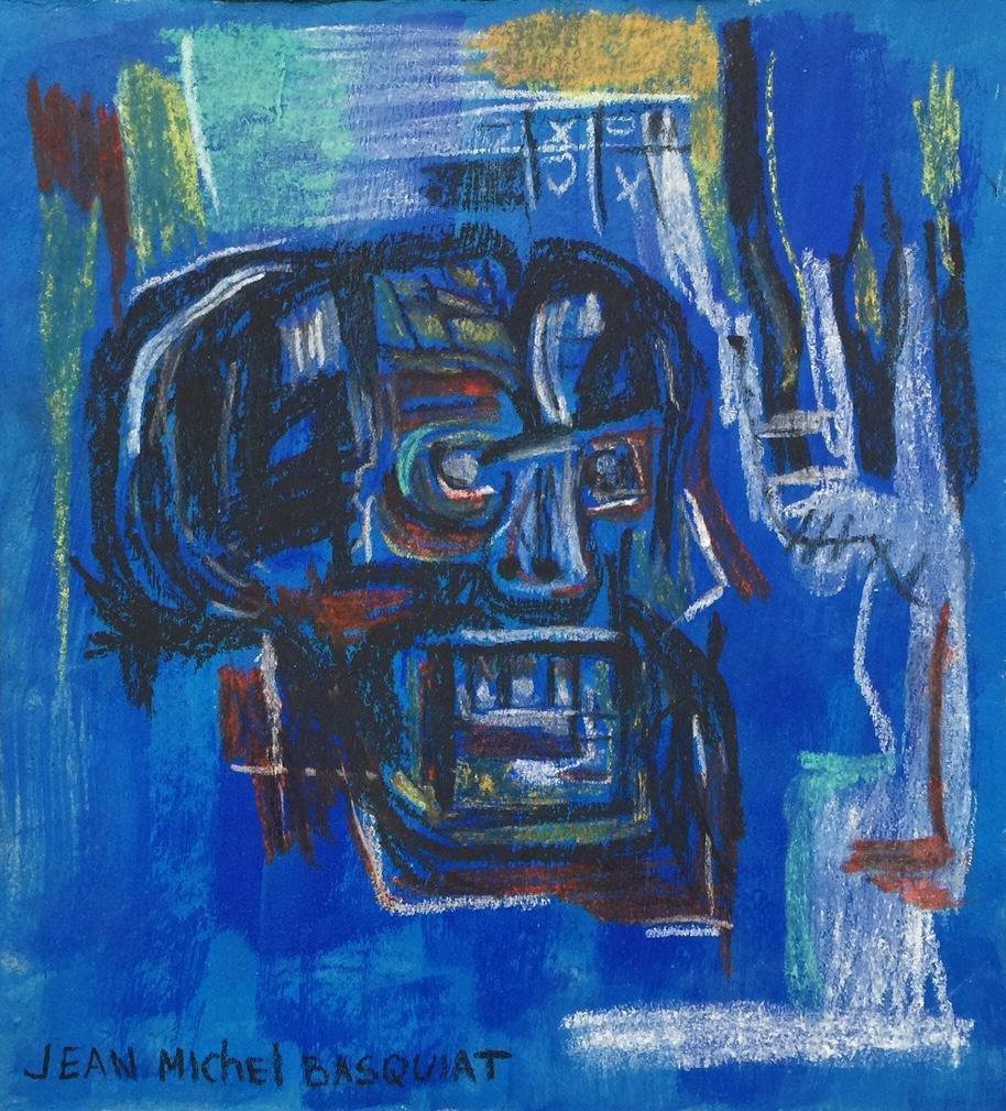 Mixed media on paper Jean-Michel Basquiat American