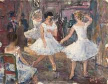 Edgar Degas oil on paper painting impressionism French