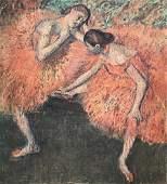 Edgar Degas lithograph print on paper vintage