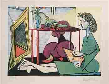 Pablo Picasso lithograph cubism art women