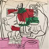 Le Corbusier mixed media on paper expressionism French