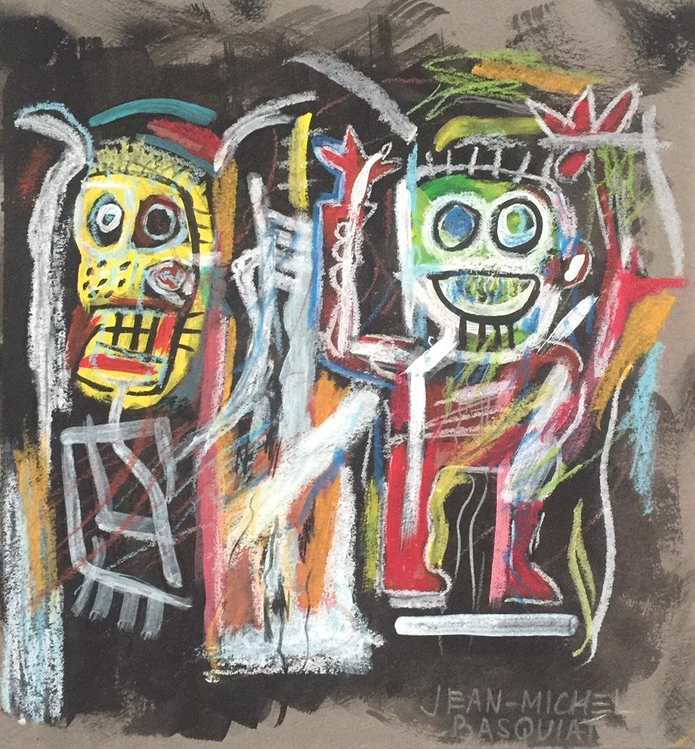 Jean-Michel Basquiat mixed media on paper US