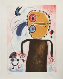 Joan Miro lithograph abstract art Spanish