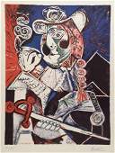 Pablo Picasso lithograph cubism art musketeer