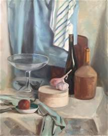Still life oil on canvas painting Realism