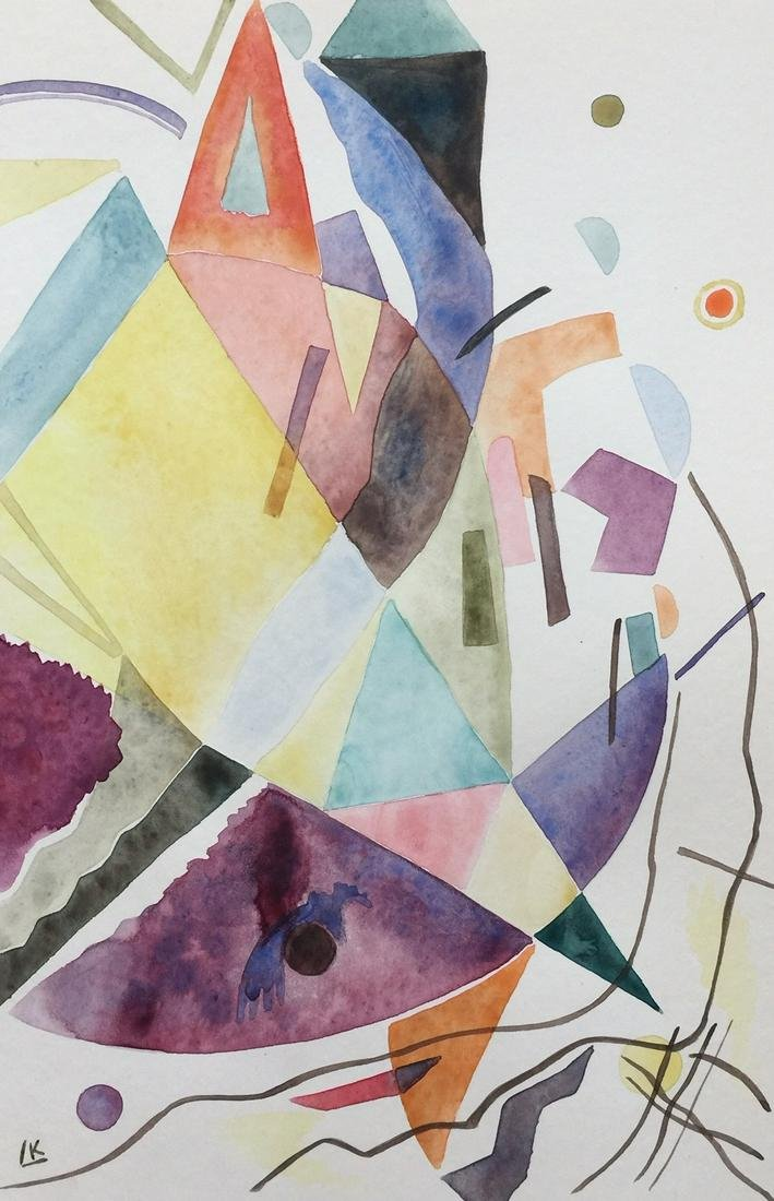 Wassily Kandinsky watercolor on paper Russian Abstract