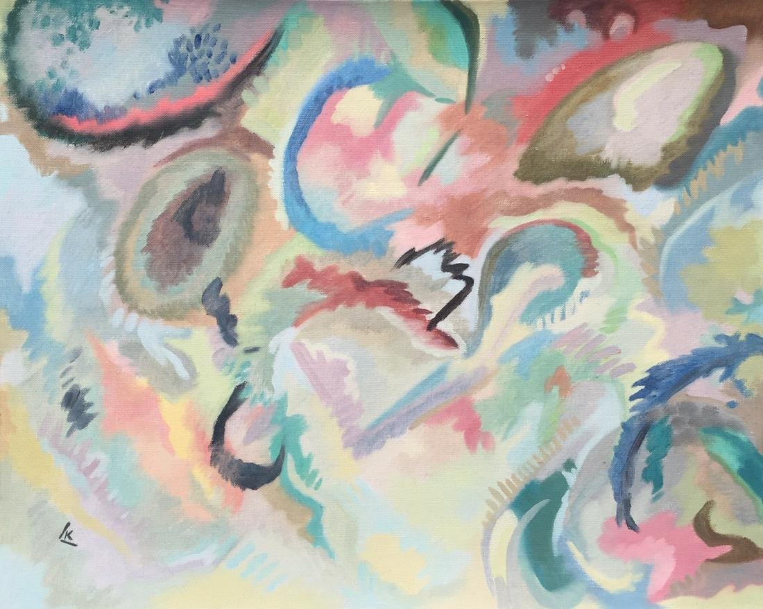 Wassily Kandinsky oil on canvas Russian Abstract