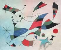 Joan Miro oil on canvas abstract art Spanish